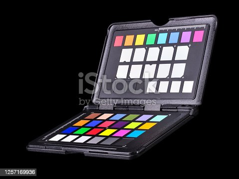 istock Rainbow color palette or colorchecker calibration passport for post production 1257169936
