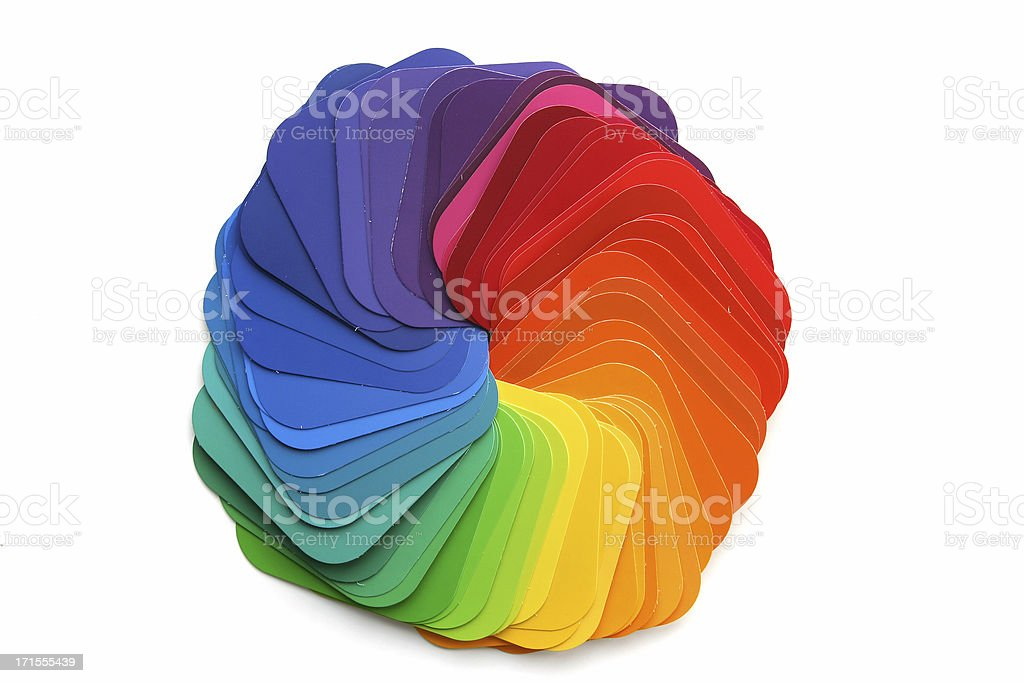 Rainbow Color Swatch royalty-free stock photo