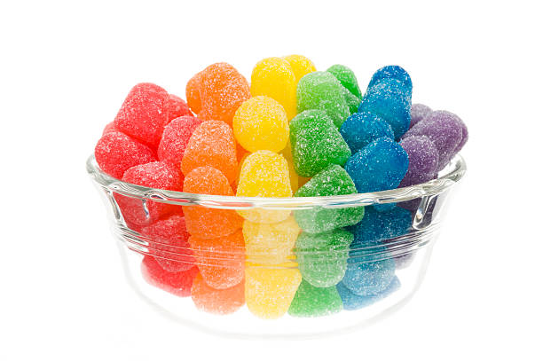 Rainbow Colored Candy stock photo