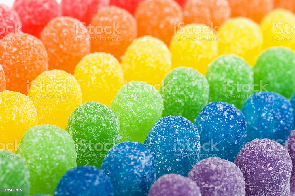 Rainbow Colored Candy royalty-free stock photo