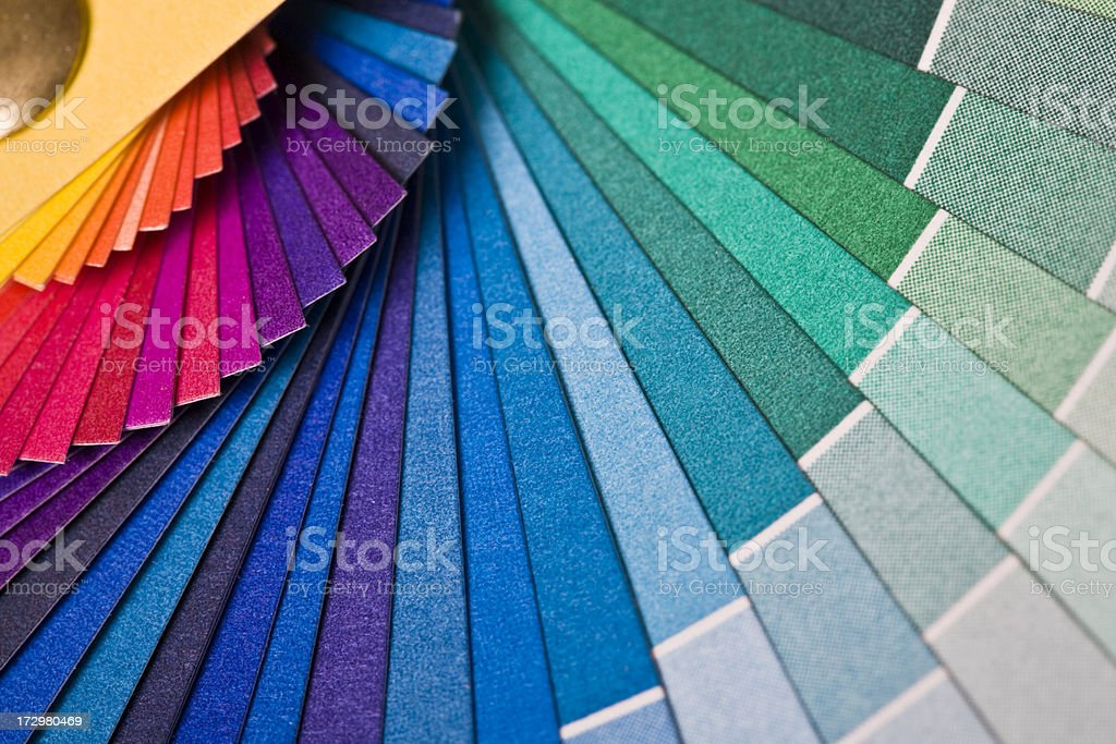Rainbow Colored Fan royalty-free stock photo