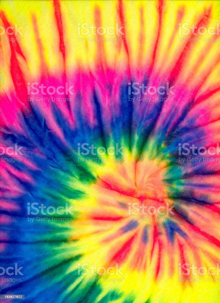 Rainbow Colored Tie Dye Background Pattern or Texture stock photo