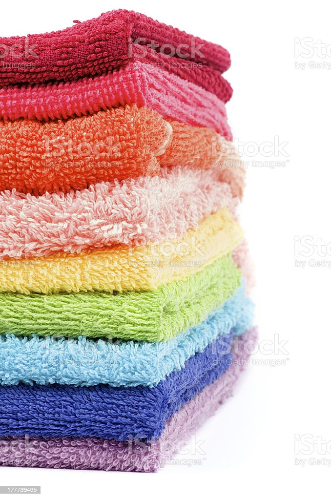 Rainbow Colored Towels royalty-free stock photo