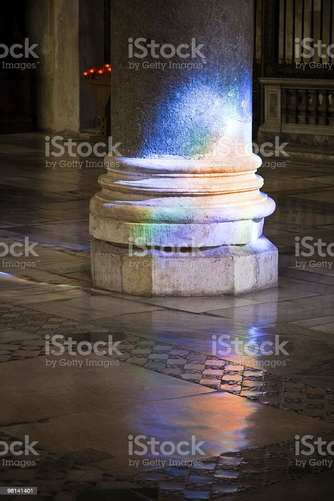 Arcobaleno colonna foto stock royalty-free