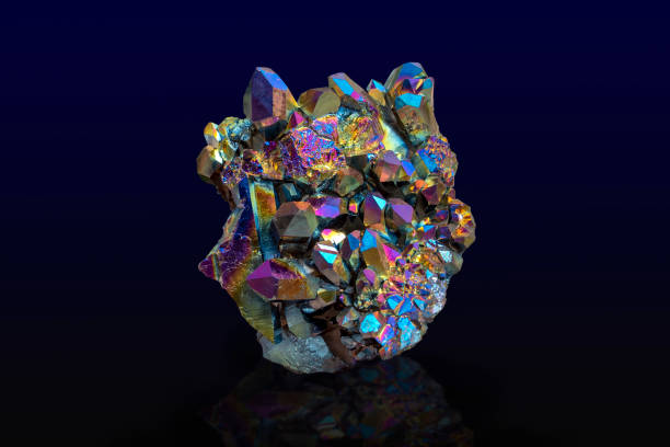 Rainbow crystal texture as very nice natural background stock photo