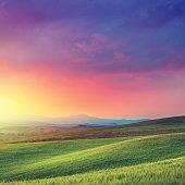 istock Rainbow dawn in Tuscany 165658442