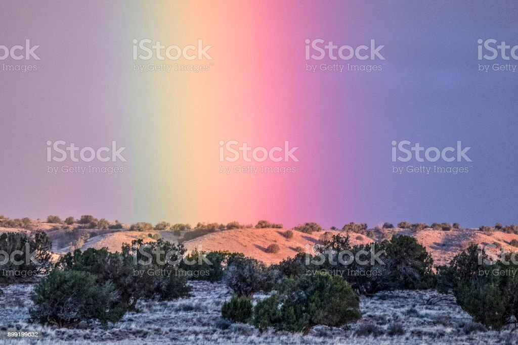 Rainbow dawn stock photo