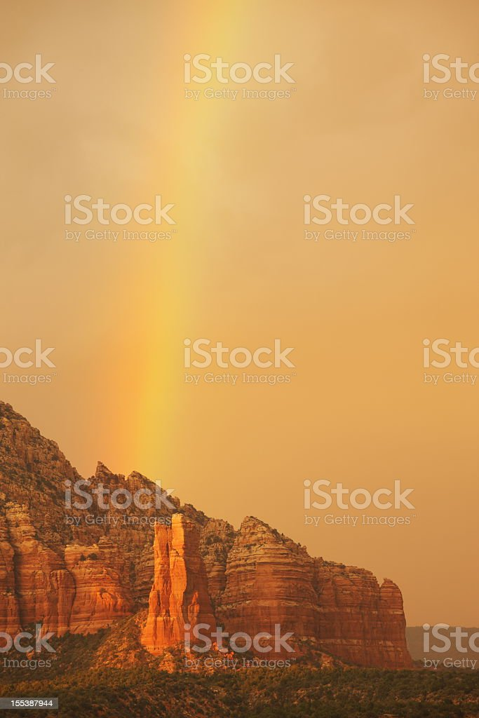 Rainbow Desert Red Rocks Hoodoo Butte stock photo