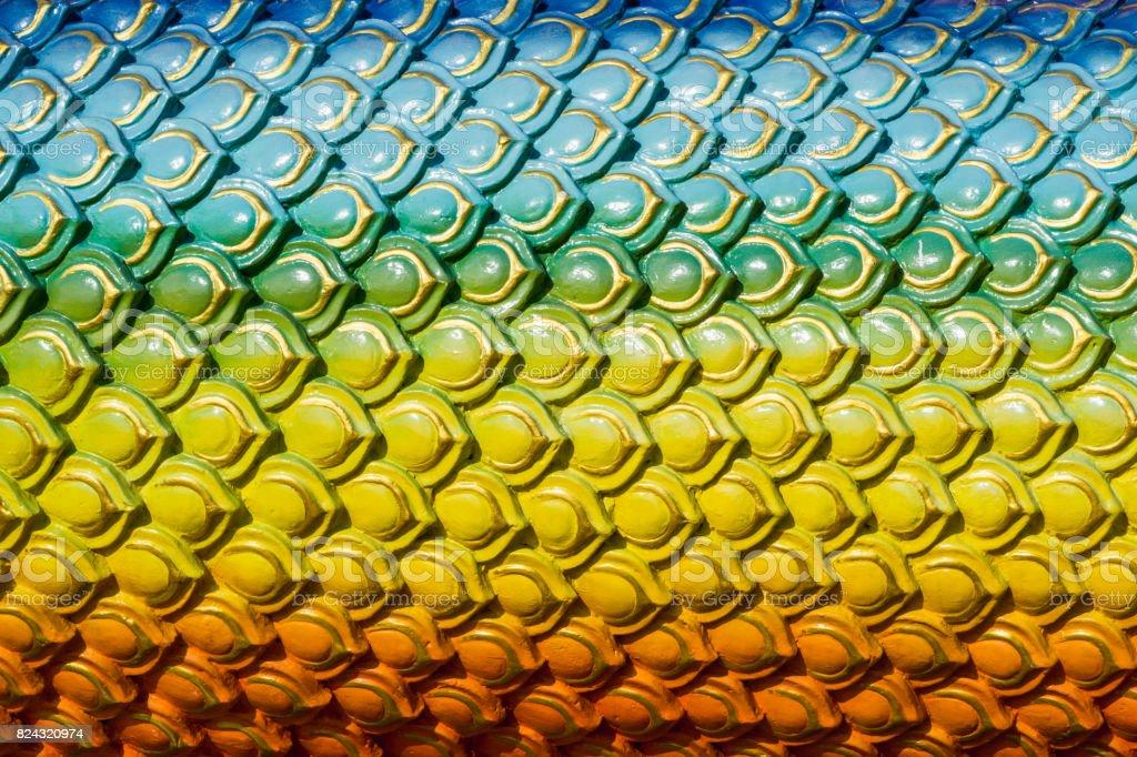 Rainbow Dragon Scale. stock photo