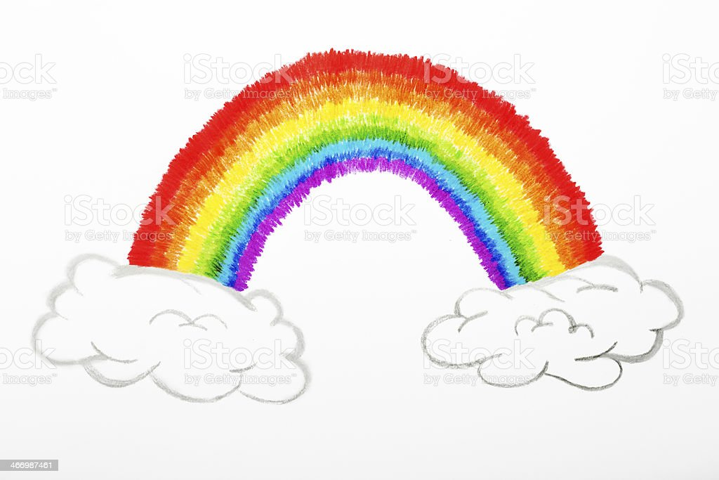 rainbow draw stock photo more pictures of abstract istock