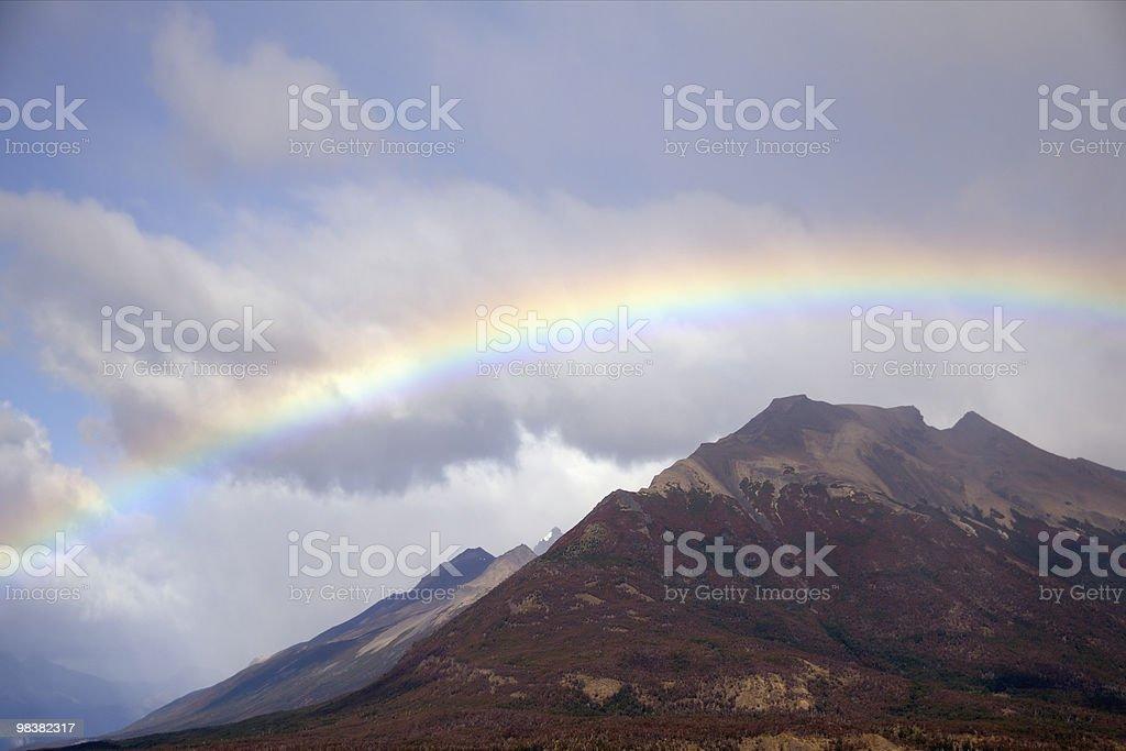 Rainbow, El Calafate, Patagonia, Argentina royalty-free stock photo