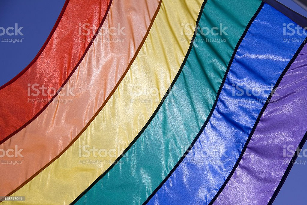 Rainbow Flag Closeup royalty-free stock photo