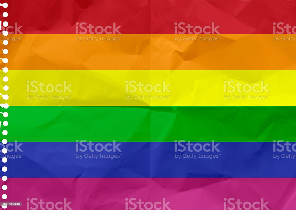 Rainbow flag of Gay Pride royalty-free stock photo
