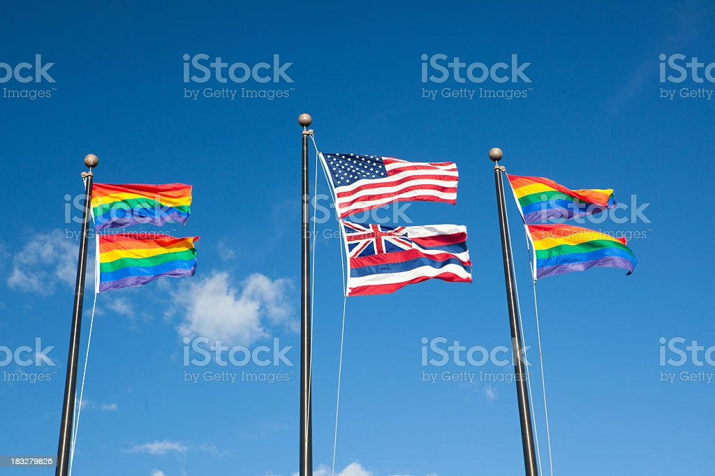 rainbow flag royalty-free stock photo
