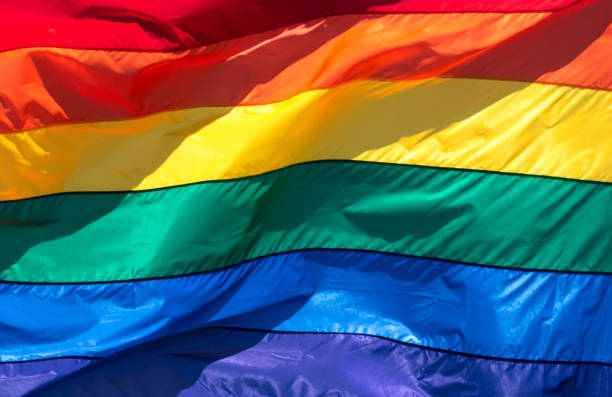Rainbow Flag (full frame) Rainbow Flag (full frame) lgbtqi rights stock pictures, royalty-free photos & images