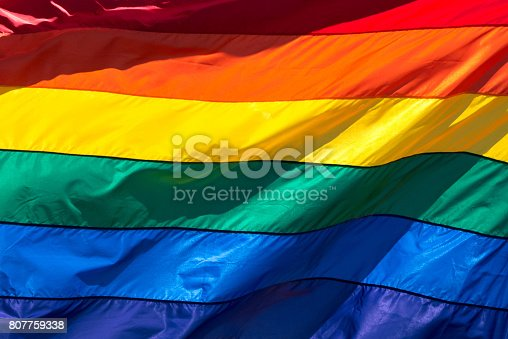 istock Rainbow Flag (full frame) 807759338