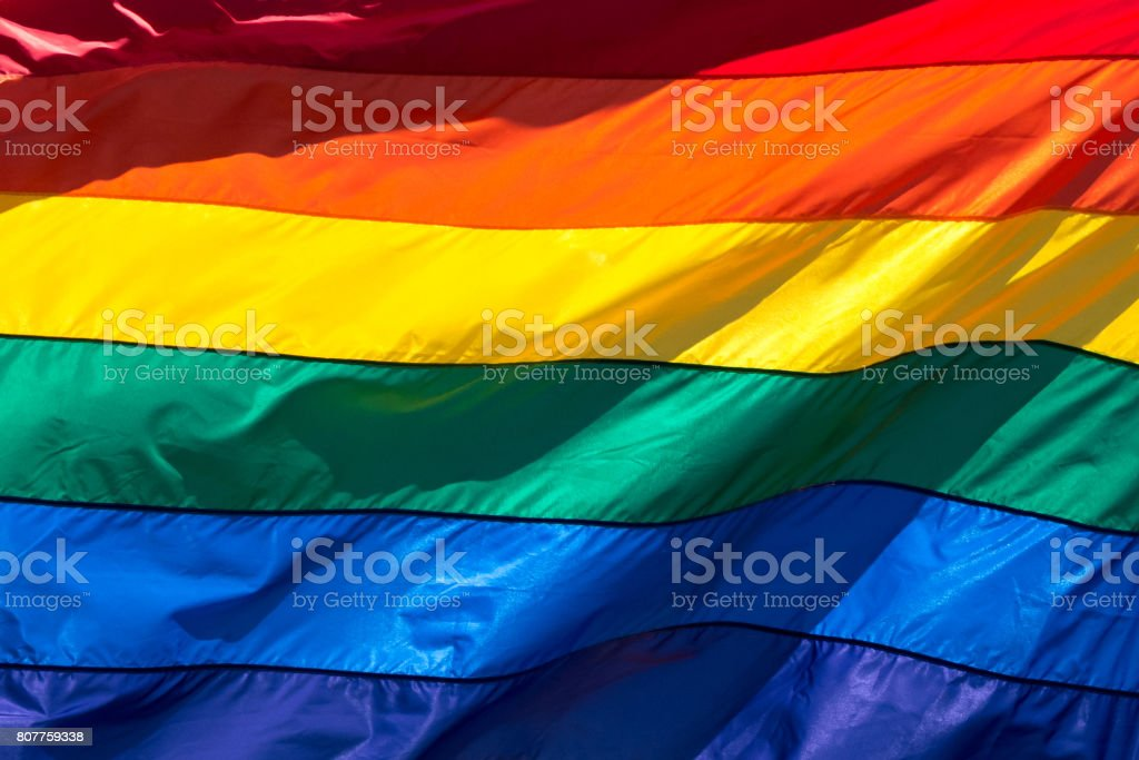 Rainbow Flag (full frame) stock photo