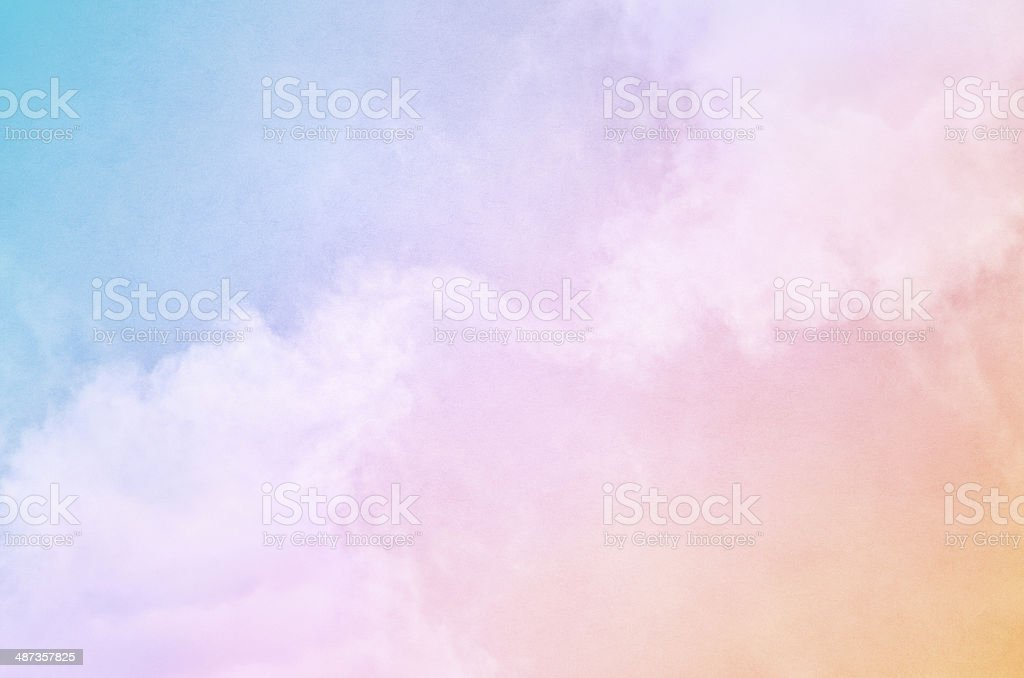 Rainbow Fog stock photo