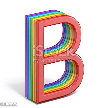 istock Rainbow font letter B 3D 949635050
