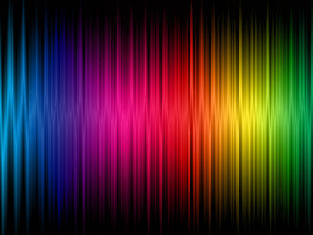 a rainbow frequency abstract background - 光譜 個照片及圖片檔