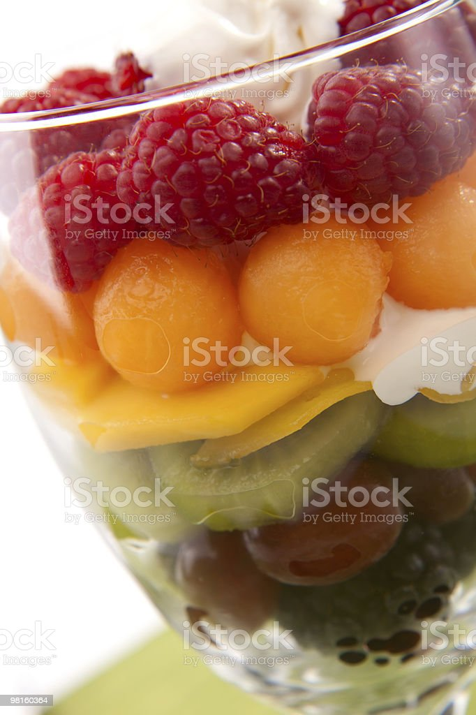Rainbow fruit salad royalty-free stock photo