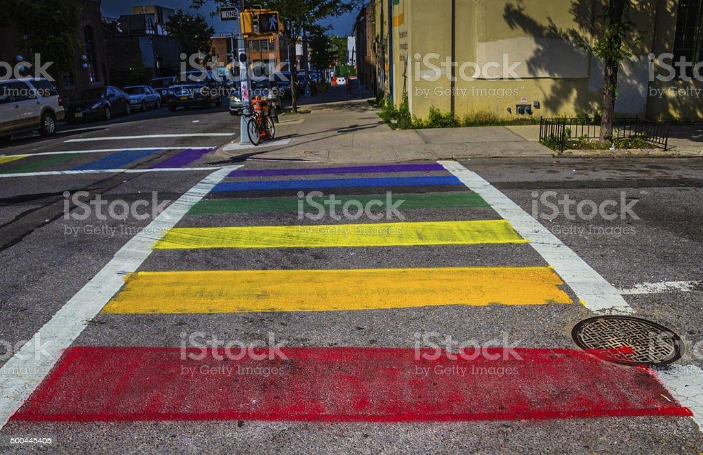 Rainbow Gay Flag stock photo