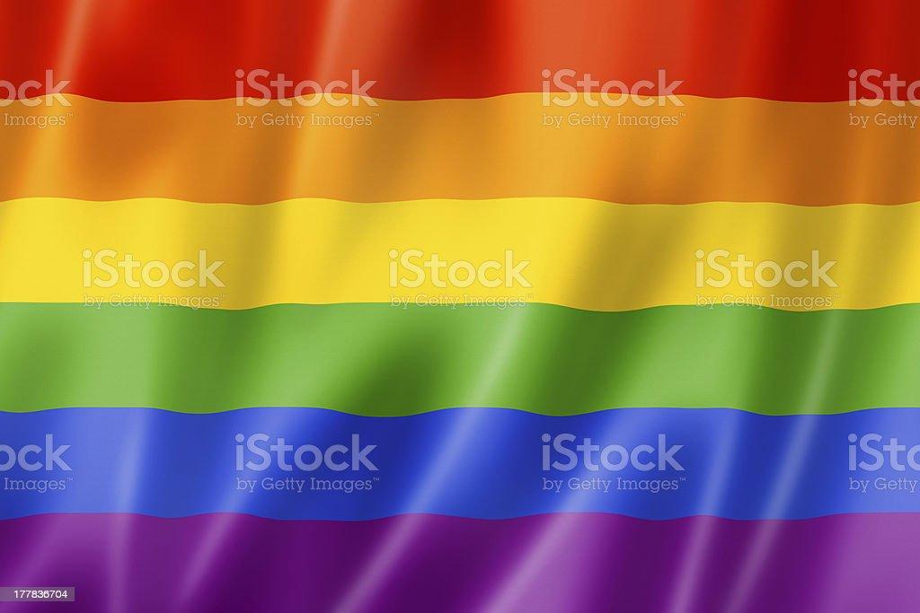 Rainbow gay pride flag royalty-free stock photo