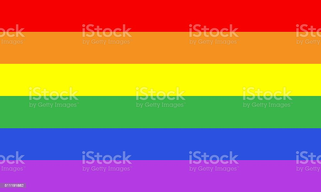 Rainbow gay pride flag stock photo