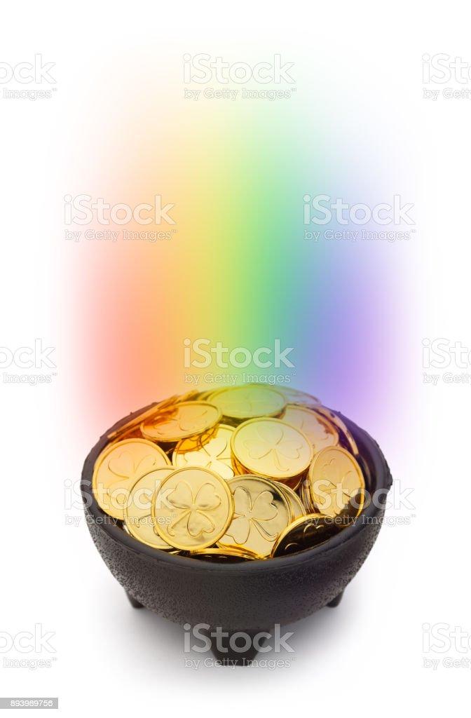Rainbow Gold stock photo