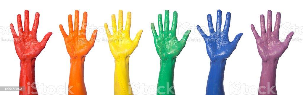 Rainbow Hands royalty-free stock photo