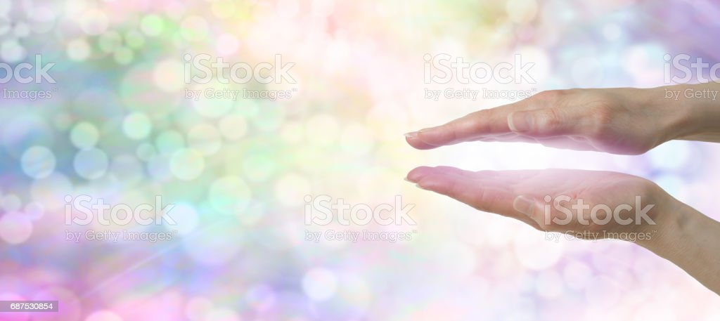 Rainbow Healer's Website Banner - stock photo