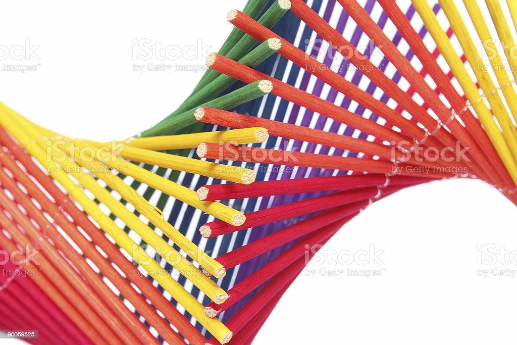 Rainbow Helix royalty-free stock photo