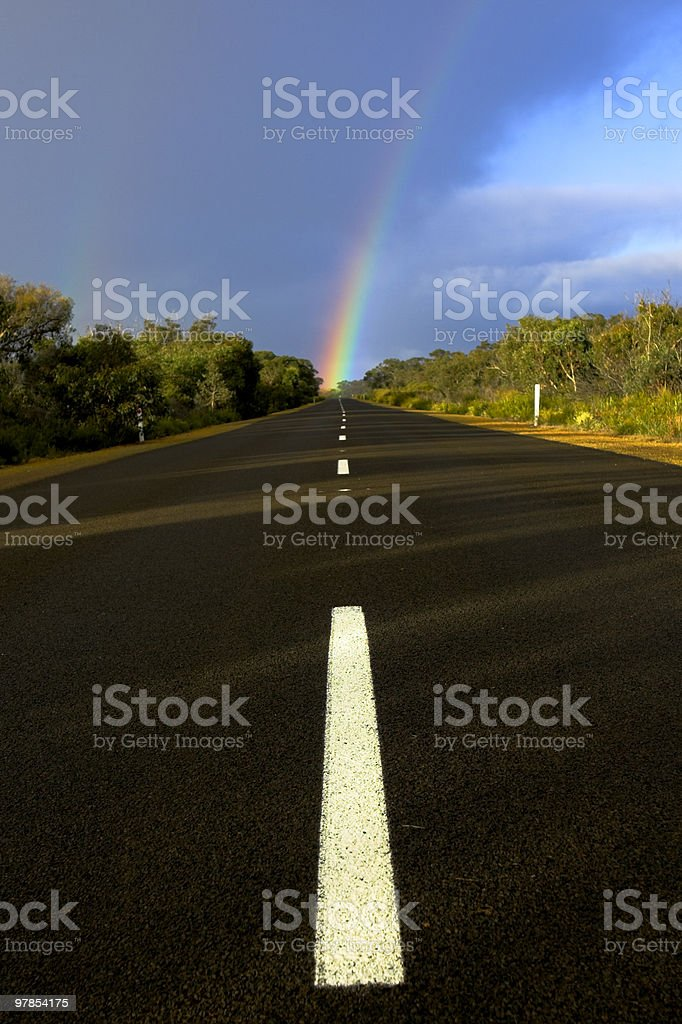 Rainbow Highway royalty-free stock photo