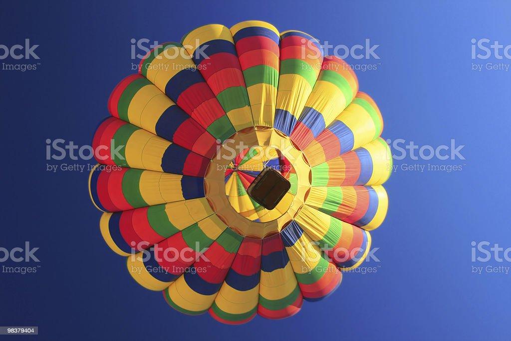 Rainbow Hot Air Balloon from below royalty-free stock photo