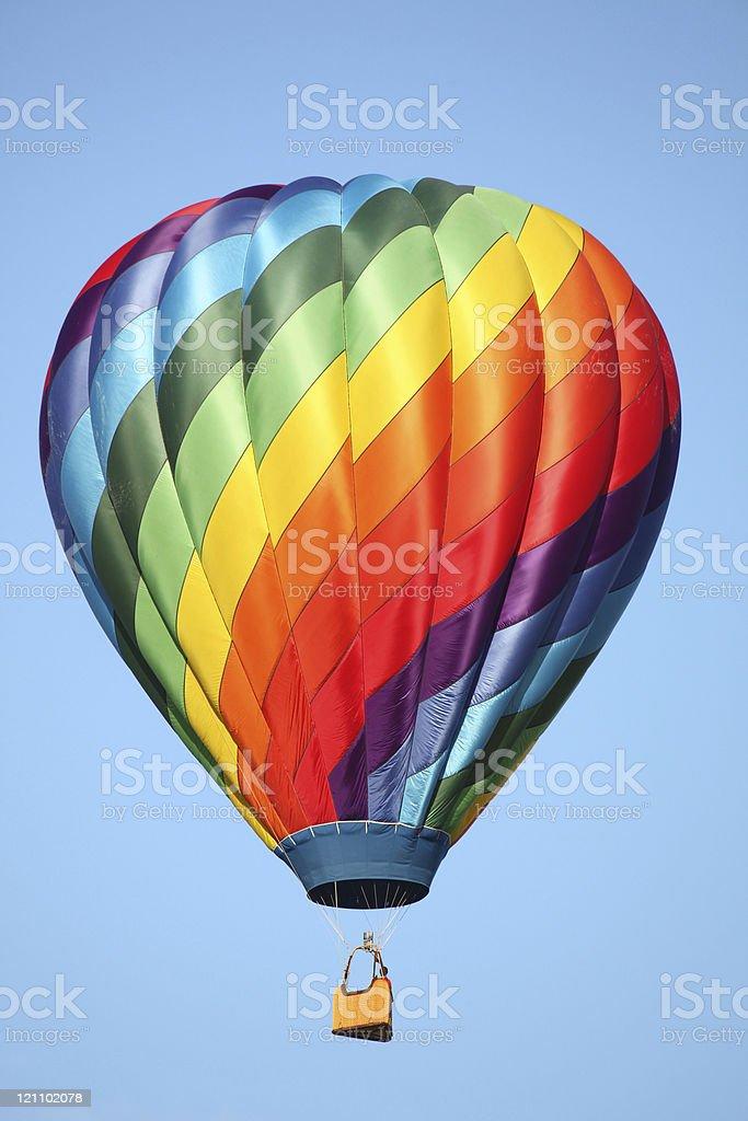 rainbow hot air balloon royalty-free stock photo