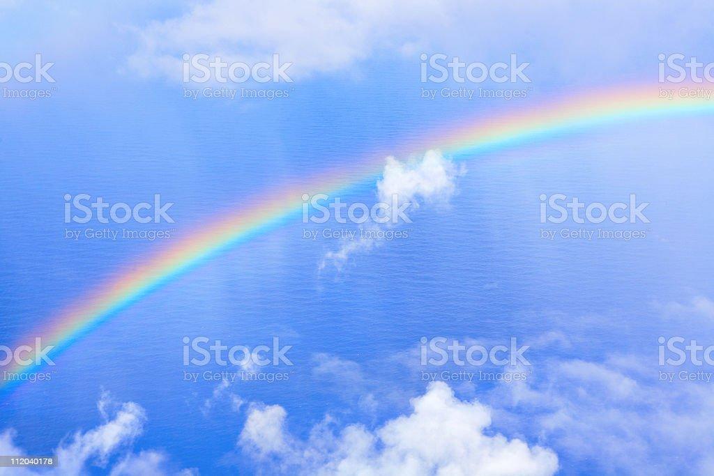 rainbow in sky royalty-free stock photo