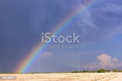 Regenbogen im Etosha Nationalpark Namibia
