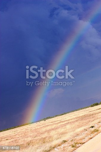 Rainbow in the Etosha National Park Namibia
