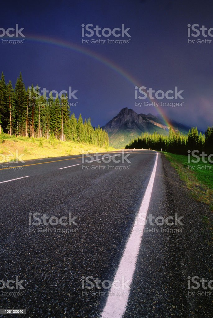 Rainbow in the rockies royalty-free stock photo