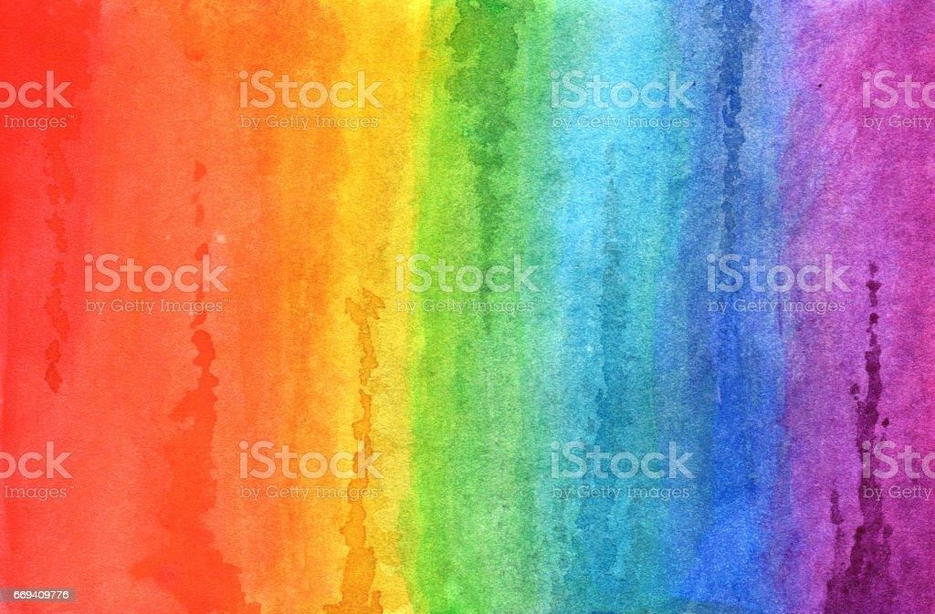 Rainbow in watercolor