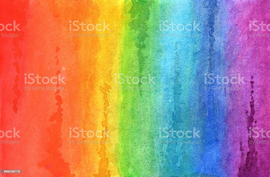 Regenbogen in Aquarell – Foto