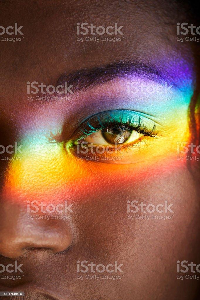 Regenbogen über Auge Licht – Foto
