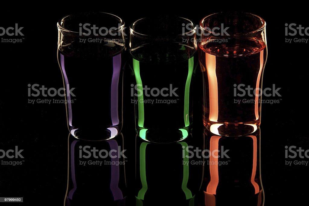 Rainbow Liquers royalty-free stock photo