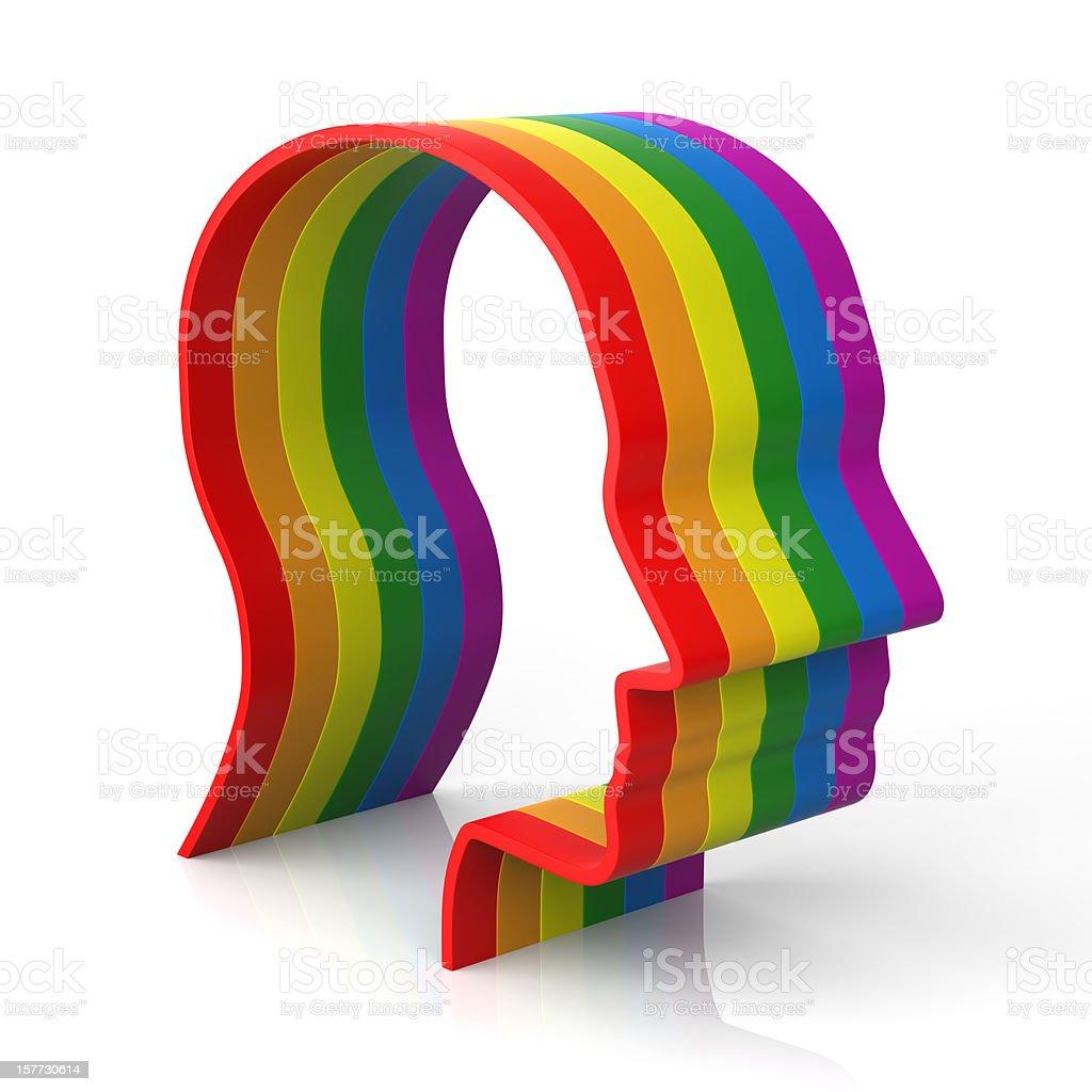 Rainbow Men royalty-free stock photo