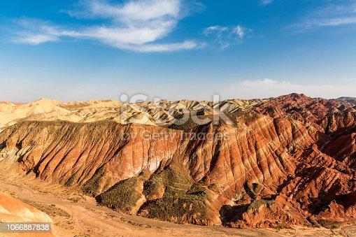 Colorful Danxia landform.