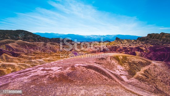 These rainbow mountains in Death Valley National Park are a popular tourist spot among travellers and locals.