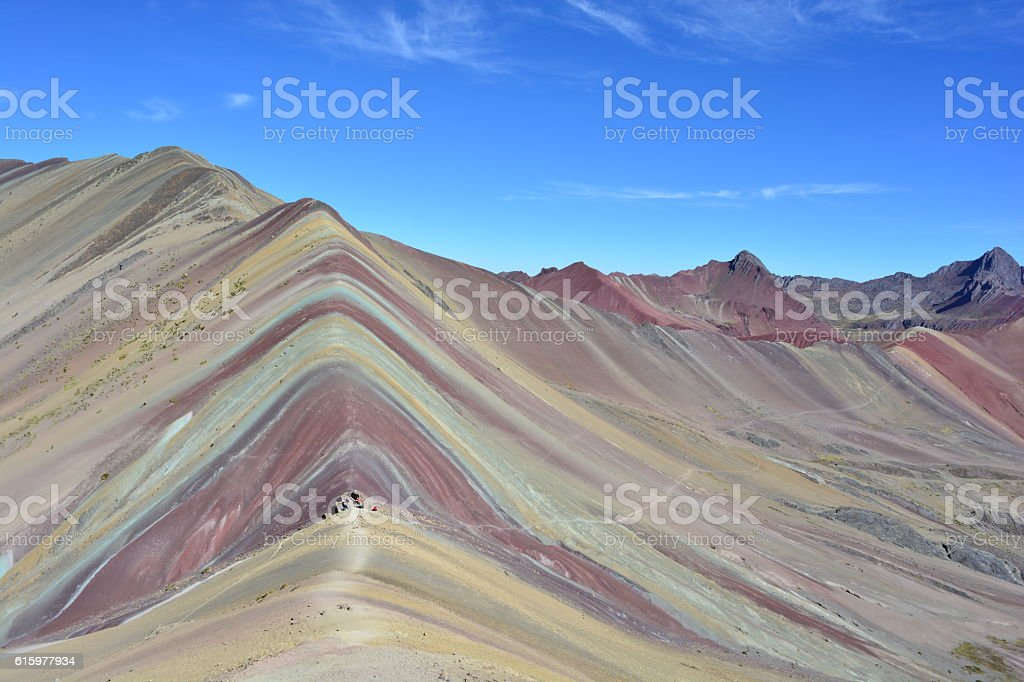Rainbow mountains in Peru stock photo