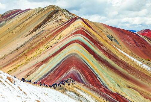 istock Rainbow mountains or Vinicunca Montana of Seven Colors 1170494331