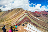 istock Rainbow mountains or Vinicunca Montana of Seven Colors 1174889934