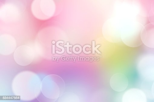 istock Rainbow multi colors abstract bokeh background. 534447554